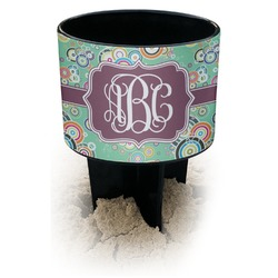 Colored Circles Black Beach Spiker Drink Holder (Personalized)