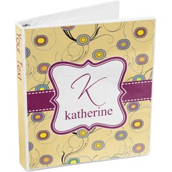 Ovals & Swirls 3-Ring Binder (Personalized)