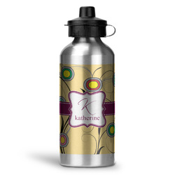 Ovals & Swirls Water Bottle - Aluminum - 20 oz (Personalized)