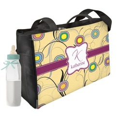 Ovals & Swirls Diaper Bag (Personalized)