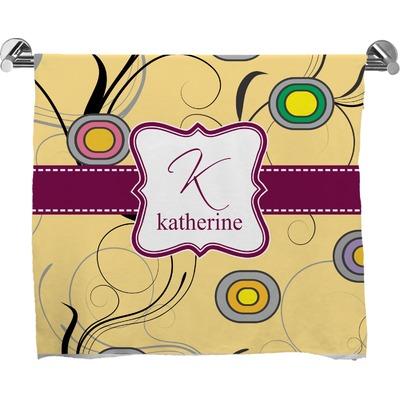 Ovals & Swirls Bath Towel (Personalized)