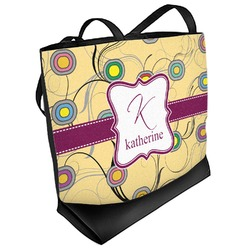 Ovals & Swirls Beach Tote Bag (Personalized)
