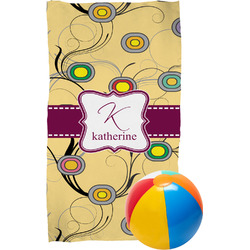 Ovals & Swirls Beach Towel (Personalized)