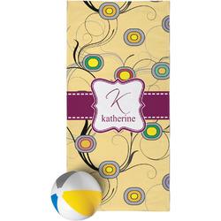 Ovals & Swirls Beach Towel (Personalized)