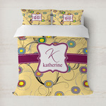 Ovals & Swirls Duvet Cover (Personalized)