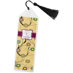 Ovals & Swirls Book Mark w/Tassel (Personalized)
