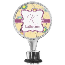 Ovals & Swirls Wine Bottle Stopper (Personalized)