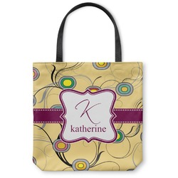 Ovals & Swirls Canvas Tote Bag (Personalized)