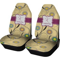 Ovals & Swirls Car Seat Covers (Set of Two) (Personalized)
