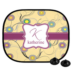 Ovals & Swirls Car Side Window Sun Shade (Personalized)