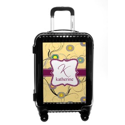 Ovals & Swirls Carry On Hard Shell Suitcase (Personalized)