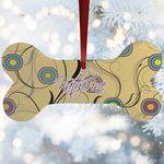 Ovals & Swirls Ceramic Dog Ornaments w/ Name and Initial