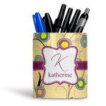 Ovals & Swirls Ceramic Pen Holder