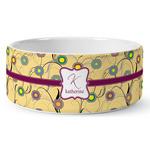 Ovals & Swirls Ceramic Dog Bowl (Personalized)