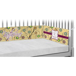 Ovals & Swirls Crib Bumper Pads (Personalized)