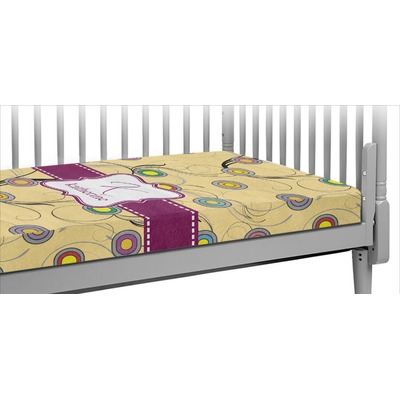 Ovals & Swirls Crib Fitted Sheet (Personalized)