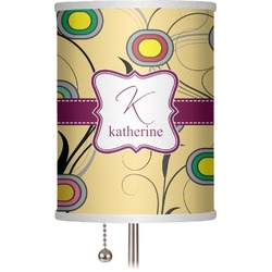 "Ovals & Swirls 7"" Drum Lamp Shade (Personalized)"