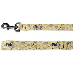 Ovals & Swirls Deluxe Dog Leash (Personalized)