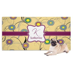 Ovals & Swirls Pet Towel (Personalized)