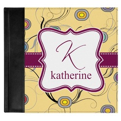 Ovals & Swirls Genuine Leather Baby Memory Book (Personalized)