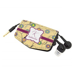 Ovals & Swirls Genuine Leather Cord Wrap (Personalized)