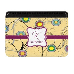 Ovals & Swirls Genuine Leather Front Pocket Wallet (Personalized)
