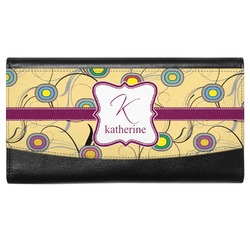 Ovals & Swirls Genuine Leather Ladies Wallet (Personalized)