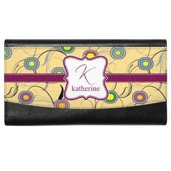 Ovals & Swirls Genuine Leather Ladies Wallet (Personalized)