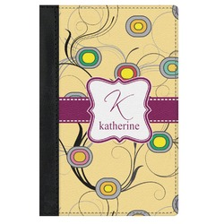Ovals & Swirls Genuine Leather Passport Cover (Personalized)