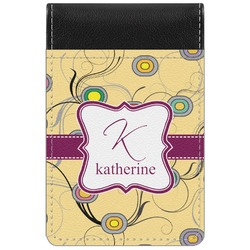 Ovals & Swirls Genuine Leather Small Memo Pad (Personalized)