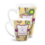 Ovals & Swirls Latte Mug (Personalized)