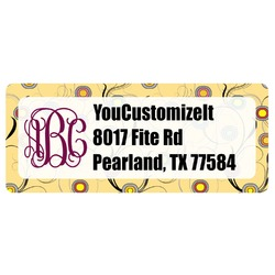 Ovals & Swirls Return Address Label (Personalized)