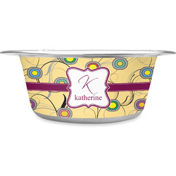 Ovals & Swirls Stainless Steel Pet Bowl (Personalized)