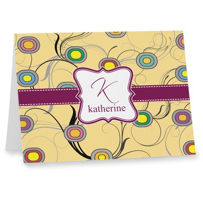 Ovals & Swirls Note cards (Personalized)
