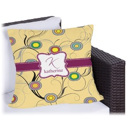 Ovals & Swirls Outdoor Pillow (Personalized)
