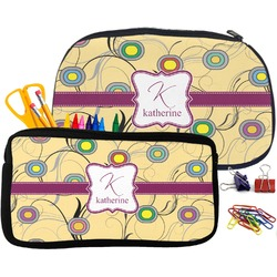 Ovals & Swirls Pencil / School Supplies Bag (Personalized)