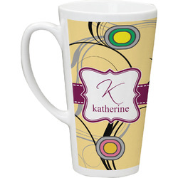 Ovals & Swirls Latte Mug (Personalized)