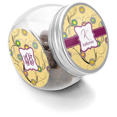 Ovals & Swirls Puppy Treat Jar (Personalized)