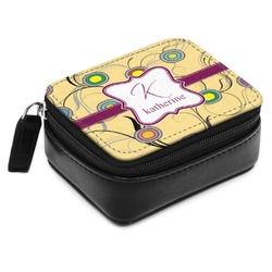 Ovals & Swirls Small Leatherette Travel Pill Case (Personalized)