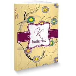 Ovals & Swirls Softbound Notebook (Personalized)