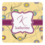 Ovals & Swirls Square Decal (Personalized)