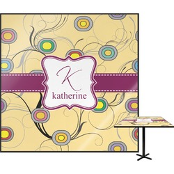 Ovals & Swirls Square Table Top (Personalized)