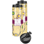 Ovals & Swirls Stainless Steel Skinny Tumbler (Personalized)