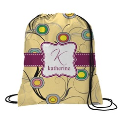 Ovals & Swirls Drawstring Backpack (Personalized)