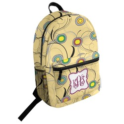 Ovals & Swirls Student Backpack (Personalized)