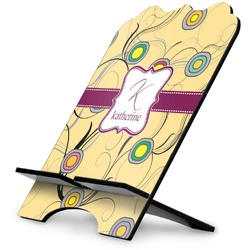 Ovals & Swirls Stylized Tablet Stand (Personalized)
