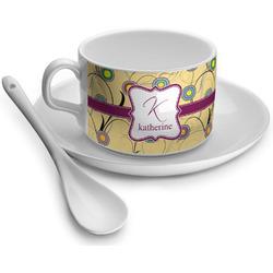 Ovals & Swirls Tea Cups (Personalized)