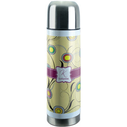 Ovals & Swirls Stainless Steel Thermos (Personalized)