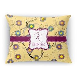 Ovals & Swirls Rectangular Throw Pillow Case (Personalized)