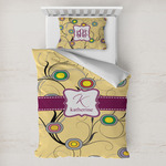 Ovals & Swirls Toddler Bedding w/ Name and Initial